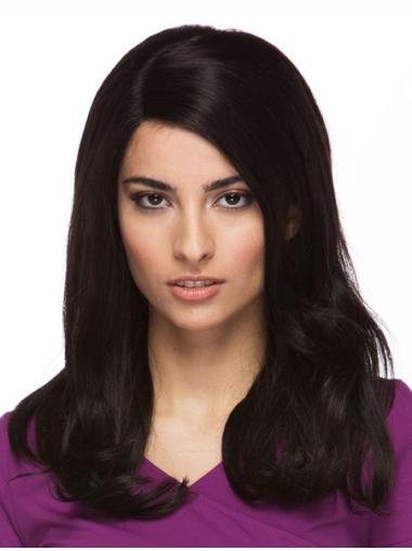High Quality Black Straight Long Lace Front Wigs
