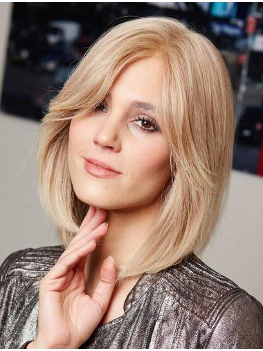 Ideal Blonde Shoulder Length Lace Front Wigs