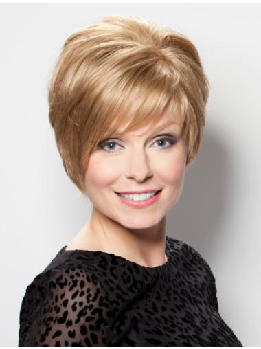 Incredible Blonde Straight Short Lace Front Wigs
