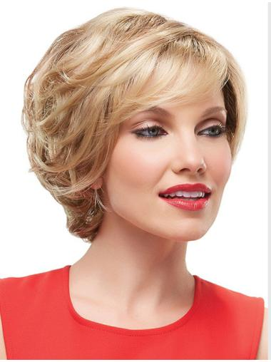 Blonde Wavy Synthetic Fabulous Short Wigs