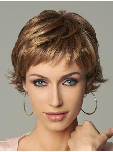 4d968751b Blonde Wavy Synthetic Stylish Short Wigs, Short Mono Male Wig