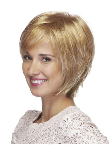 Discount Straight Bobs Blonde Short Wigs