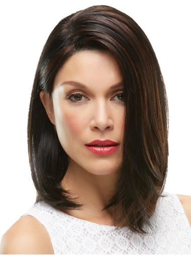 Brown Cool 100% Hand-tied Synthetic Medium Wigs