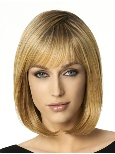 Bobs Trendy Blonde Straight Medium Wigs