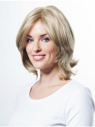 Blonde Wavy Synthetic Designed Medium Wigs