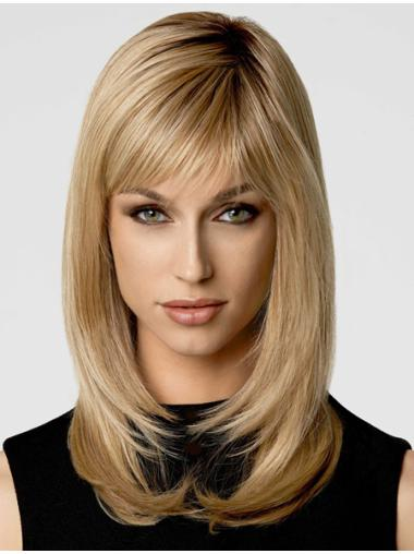 Stylish Blonde Straight Synthetic Long Wigs
