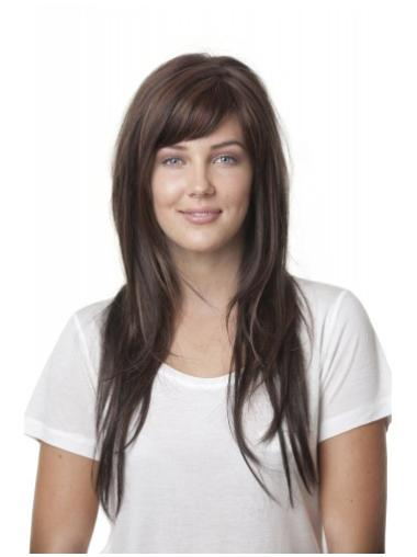 Monofilament Straight Synthetic Refined Long Wigs