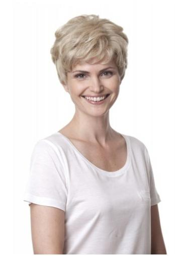 Glamorous Blonde Curly Short Human Hair Wigs
