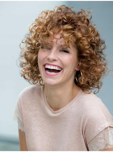 Affordable Auburn Curly Shoulder Length Classic Wigs