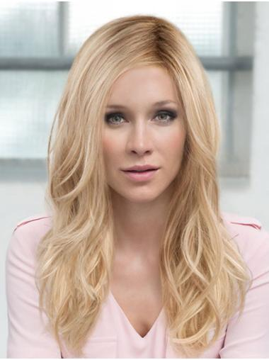 "Wavy 16"" Blonde Monofilament Layered Really Long Wigs"