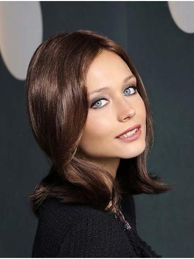 """Straight 14"""" Brown Shoulder Length Synthetic Without Bangs New Season Monofilament Wigs"""
