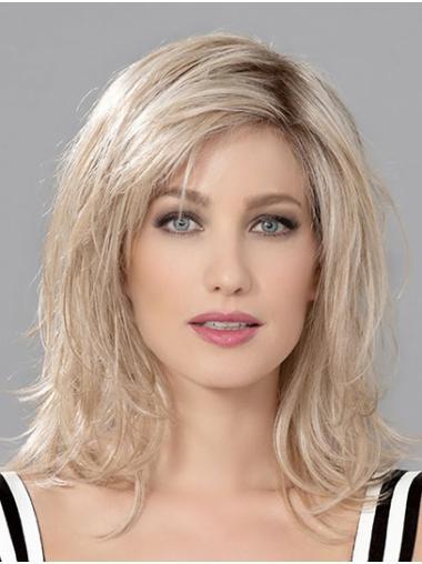 "12"" Wavy Shoulder Length Layered Human Hair Wigs Cheap"