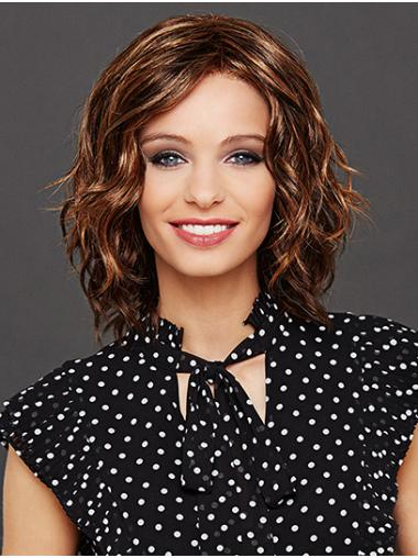 """Synthetic Auburn Wavy 12"""" Layered Lace Front Wigs"""