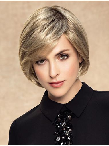 Chin Length Monofilament Synthetic Straight Bob Wigs