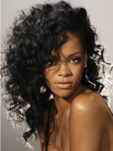 Rihanna 100% Human Remy Hair Long Loose Curl Lace Front Wig 16 Inches