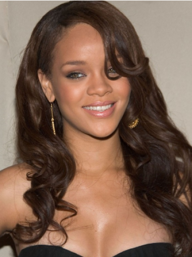 Rihanna Mysterious and Attractive Long Twisty Layered Wavy Full Lace Human Hair Wig 20 Inches