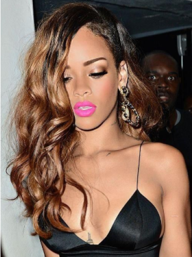Rihanna Notable Long Layered Body Wave lace human hair wig 22 inches