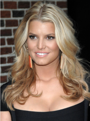 Jessica Simpson Ravishing 100% Remy Human Hair Lace Long Wavy Wig about 18 Inches