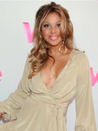 Long Wavy Blonde Synthetic Wigs Toni Braxton Celebrity Wigs