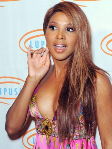 Straight Remy Human Hair Celebrity Wigs Toni Braxton Wigs Synthetic Wigs