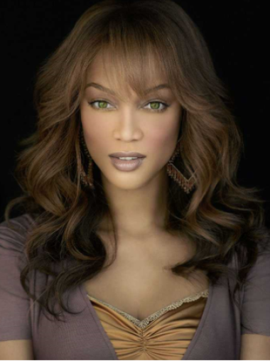 Tyra Banks Natural Beauty Pure Long Body-wave Style Glueless Lace Front Human Hair Wig 18 inches