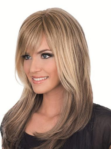 Brown Straight Remy Human Hair Wholesome Long Wigs