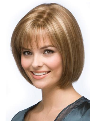 Great Blonde Lace Front Chin Length Wigs For Cancer