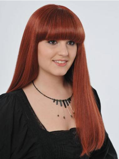 Comfortable Red Straight Long Celebrity Wigs