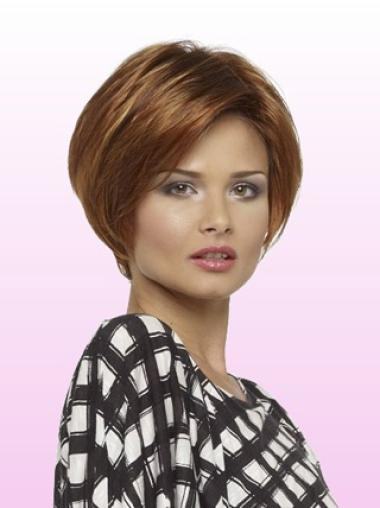 Unique Auburn Lace Front Short Wigs
