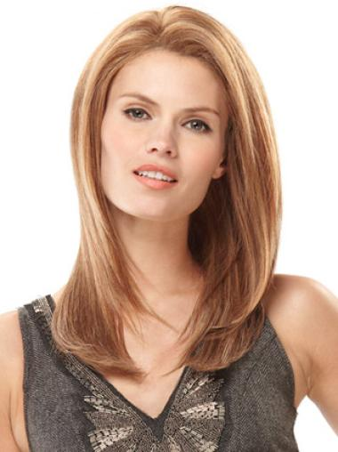 Blonde Monofilament Remy Human Hair Soft Wigs For Cancer