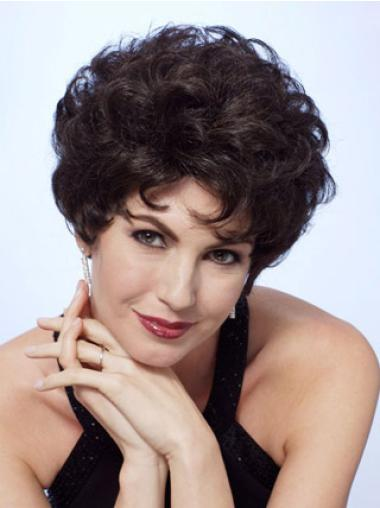 Suitable Black Curly Short Classic Wigs