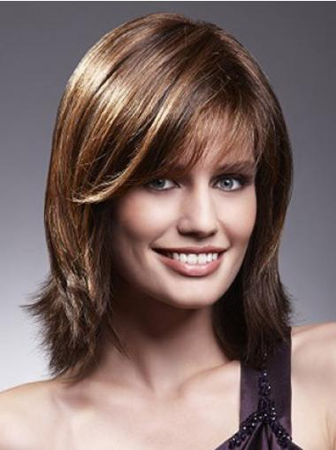 Cosy Lace Front Straight Shoulder Length Remy Human Lace Wigs