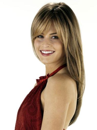 Lace Front Straight Remy Human Hair Suitable Long Wigs