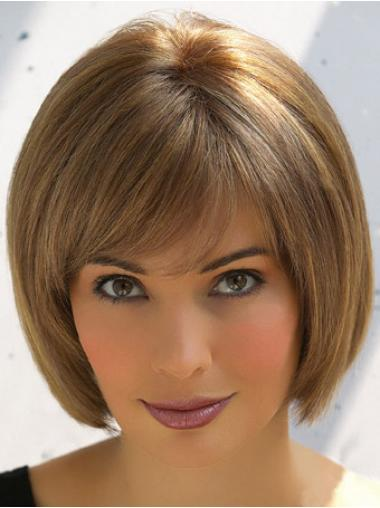 Gorgeous Brown Straight Chin Length Wigs For Cancer