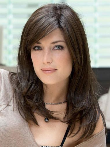 Monofilament Straight Remy Human Hair Sassy Wigs For Cancer