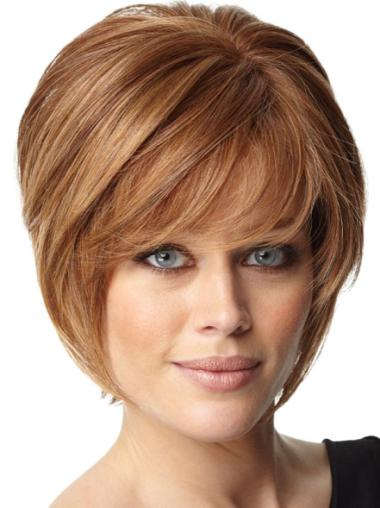 Pleasing Auburn Straight Chin Length Wigs For Cancer