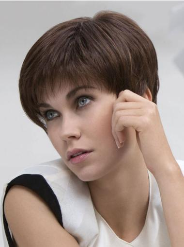 Lace Front Fashionable Boycuts Straight Short Wigs