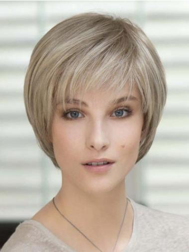 High Quality Blonde Straight Short Classic Wigs