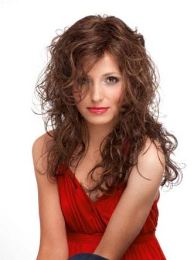 Auburn Layered Curly Graceful Wigs For Cancer