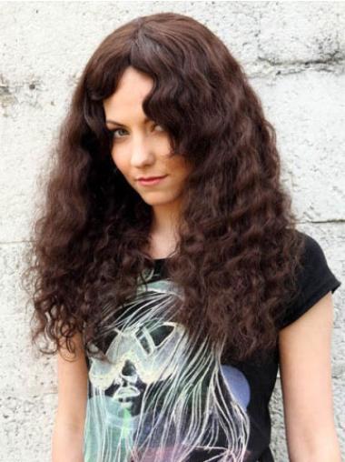 Soft Auburn Curly Long Human Hair Wigs
