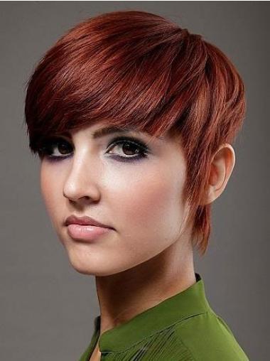 Best Red Straight Short Celebrity Wigs