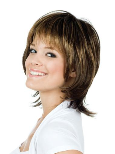 Comfortable Lace Front Straight Chin Length Remy Human Lace Wigs