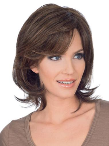 Refined Lace Front Straight Chin Length Remy Human Lace Wigs
