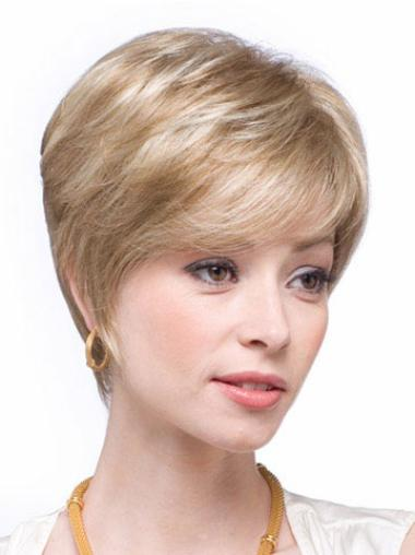 Wholesome Blonde Straight Short Human Hair Wigs
