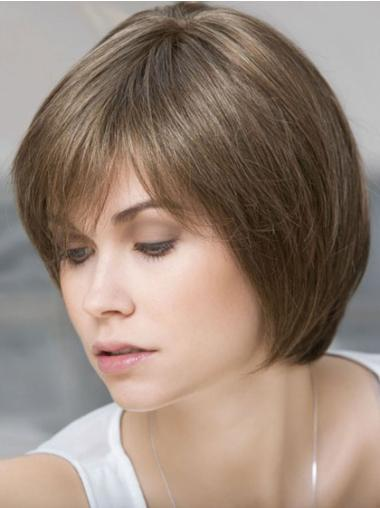 Lace Front Straight Remy Human Hair Amazing Short Wigs