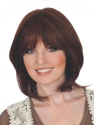 Nice Auburn Lace Front Chin Length Wigs