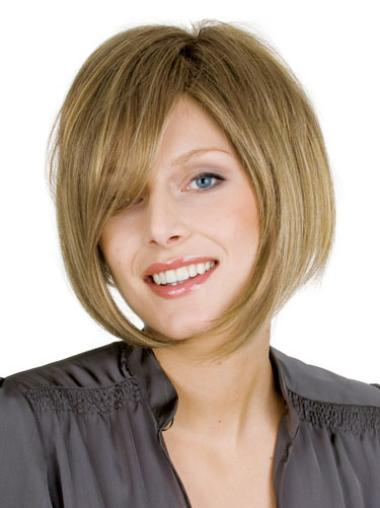 Fashion Straight Bobs Blonde Short Wigs
