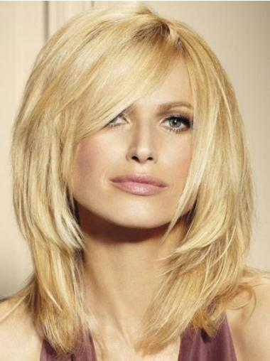 Perfect Blonde Lace Front Shoulder Length Remy Human Lace Wigs For Cancer