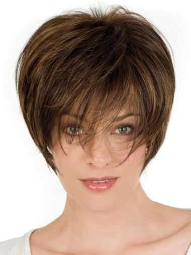 Lace Front Amazing Layered Straight Short Wigs