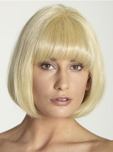 Flexibility Straight Bobs Blonde Short Wigs